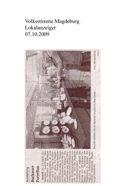 07.10.2009 Ausstellung Buckauer Porzellan