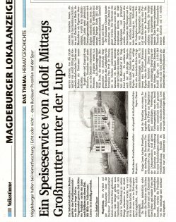 10.01.2009 Ein Speiseservice von Adolf Mittags Großmutter unter der Lupe