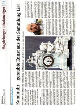 12.05.2012 Kaminuhr-geraubte Kunst aus der Sammlung List
