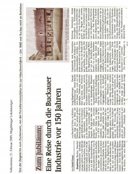 21.02.2009 Eine Reise durch die Buckauer Industrie vor 150 Jahren
