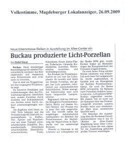 26.09.2009 Buckau produzierte Licht-Porzellan