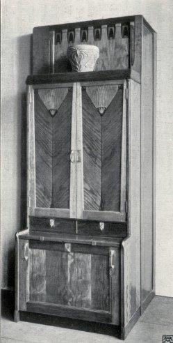 Albin Müller, Bücher-Schrank 2, 1904