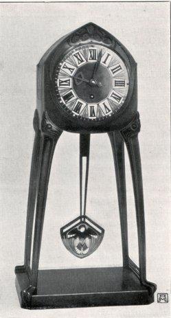 Albin Müller, Tisch-Uhr 1904