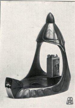Albin Müller, Zigarrenlampe mit Aschenbecher und Feuerzeug 1904