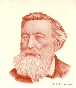 Christian Friedrich Budenberg (1815-1883), Halbportrait, Zeichnung, D0088-2