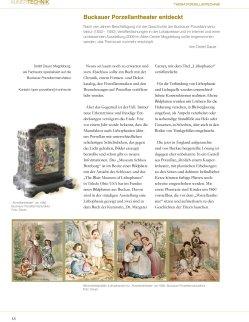 Heft 3, 2010 Buckauer Porzellantheater entdeckt
