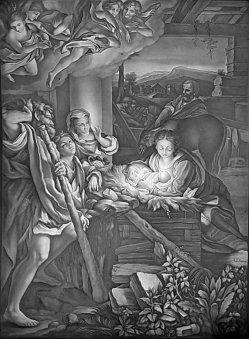 Lithophanie, Meißen 101 - Die heilige Nacht nach Correggio