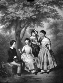 Lithophanie, Meißen 213 - Testamentspiel der Kinder