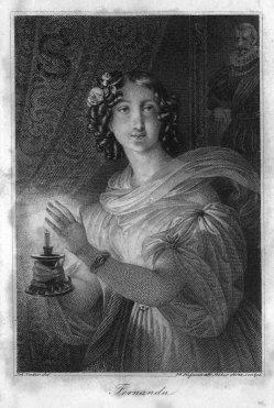 """Franz Xaver Stöber (1795-1858), """"Fernanda"""", Stahlstich nach J.N.Ender, A0194"""