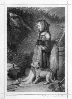 I.W.Baumann, Anna Marie, Stahlstich nach E.H.Landseer, A0185