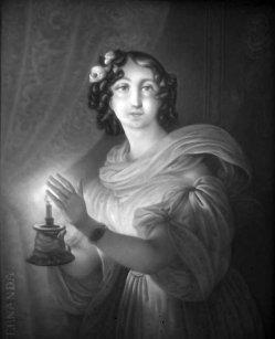 KPM 277 - Fernanda, mit einem Lichte in der Hand, nach J.N.Ender