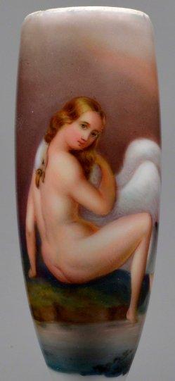 Leda mit dem Schwan, Porzellanmalerei, Pfeifenkopf, D2198