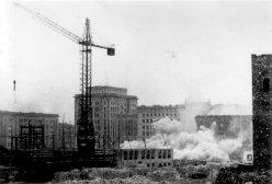 Magdeburg, Sprengung der Ulrichskirche 5.April 1956, D2209-3