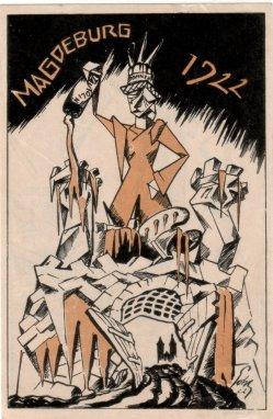 Oswald Pohl (1887-1959), Tautolin, Magdeburg 1922, D2208-3v