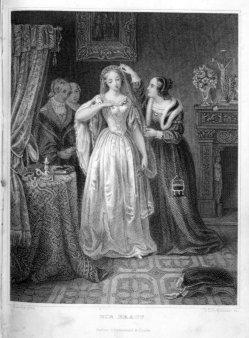 Timothy Stansfield Engleheart (1803-1879), Die Braut, Stahlstich nach von Rustige, A0192
