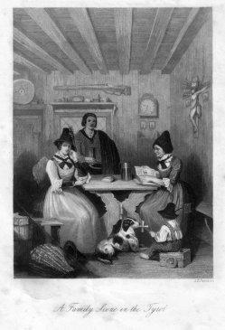 Albert Henry Payne (1812-1902), Tiroler Familienszene, Stahlstich, D2243-1