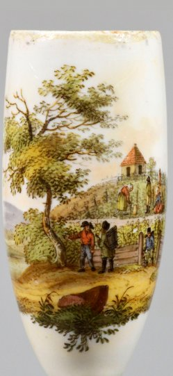 Arbeit im Weinberg, Porzellanmalerei, Pfeifenkopf, D2236