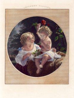 D.J.Pound, Children playing, Stahlstich nach E. Magnus, D2228