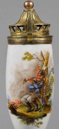 Des Soldaten Raucherpause, Porzellanmalerei, Pfeifenkopf, D2235