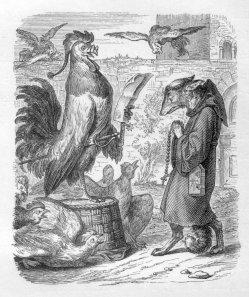 Julius Schnorr, Zeichnung, Reinecke Fuchs, Gesang 1, Abbildung 5, nach W. v. Kaulbach, D2104-1,5