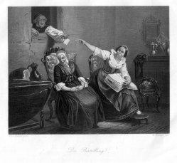 William French (1815-1898), Die Bestellung, Stahlstich nach C. Hübner, D2244-1
