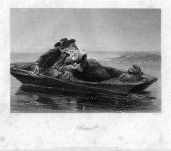 William French (1815-1898), Stromab, Stahlstich nach J.J.Jenkins, D2242-3