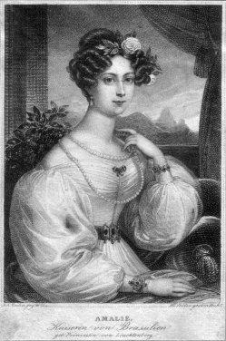 Franz Xaver Stöber (1795-1858), Amalie, Kaiserin von Brasilien, Stahlstich nach J. Ender, D2267-13