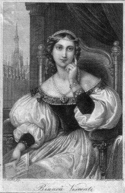 Franz Xaver Stöber (1795-1858), Bianca Visconti, Stahlstich nach J. Ender, D2267-05
