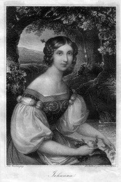 Franz Xaver Stöber (1795-1858), Jpohanna, Stahlstich nach J. Ender, D1693