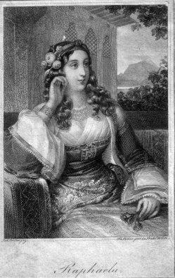 Franz Xaver Stöber (1795-1858), Raphaela, Stahlstich nach J. Ender, D2267-07