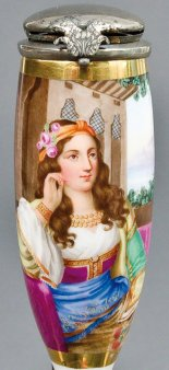 Johann Nepomuk Ender (1793-1854), Raphaela, Porzellanmalerei, Pfeifenkopf, B0068