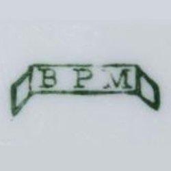 Porzellanmarke BPM (um 1895), Gebrauchsporzellan