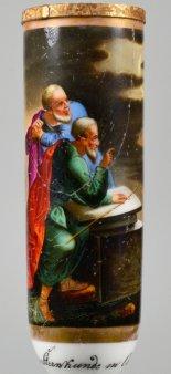 Ursprung der Sternkunde in Scaldua, Porzellanmalerei, Pfeifenkopf, D2270