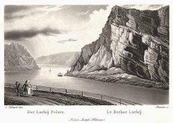 Johann Jakob Tanner (1807–1862), Der Lurley Felsen, Aquatinta-Radierung nach F. C. Klimsch, A0014