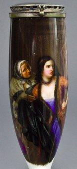 Carl Wilhelm Friedrich Oesterley (1805-1891), Leonore, Porzellanmalerei, Pfeifenkopf, B0139