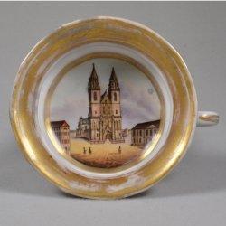Magdeburger Dom, Porzellanmalerei, Innenbildtasse, D0995