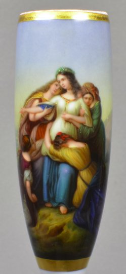 Karl Wilhelm Friedrich Oesterley (1805-1891), Tochter Jephtas, Porzellanmalerei, Pfeifenkopf, D1619