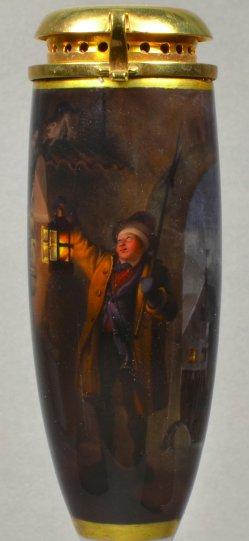 D1819-0 Malerei Der erschrockene Nachtwächter