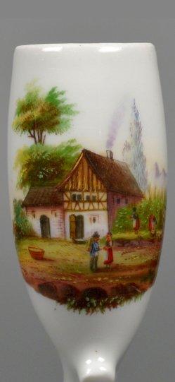 Dorfidylle, Porzellanmalerei, Pfeifenkopf, D2296-6
