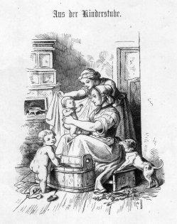 Gaber, Aus der Kinderstube, Holzstich, D2243-4
