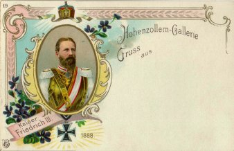Kaiser Friedrich III. (1888), Portrait, AK, D2080-19