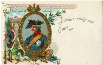 König Friedrich II, Der Grosse (1740-1786), Portrait, AK, D2080-14
