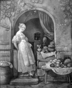 Lithophanie, Meißen 146 – Die Victualienhändlerin