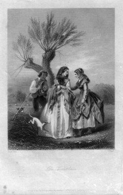 William French (1815-1898), Die Vermittlerin, Stahlstich, nach Compte-Calix, D1281