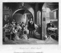 William French (1815-1898), Raphael und Michel Angelo, Stahlstich, nach J. Kirner, D1274