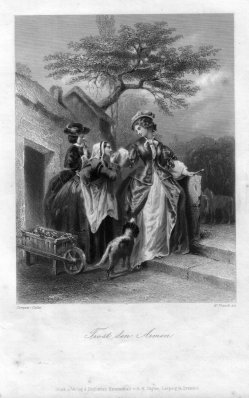 William French (1815-1898), Trost den Armen, Stahlstich, nach Compte-Calix, D1278