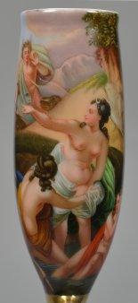 Amor winkt badenden Frauen, Porzellanmalerei, Pfeifenkopf, D2313