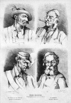 E. Seifferth, Münchner Charakterköpfe, Holzstich nach J. Adam, D2315
