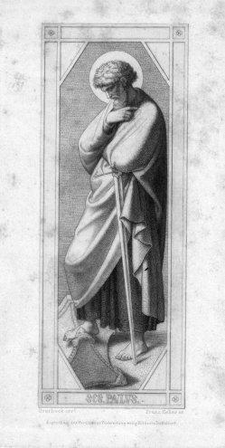 Franz.Keller (1821-1896), SES. Paulus, Radierung nach Overbeck, D2347-08