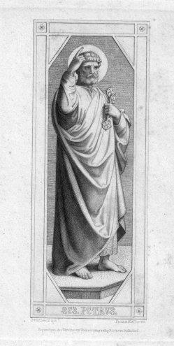 Franz.Keller (1821-1896), SES. Petrus, Radierung nach Overbeck, D2347-09